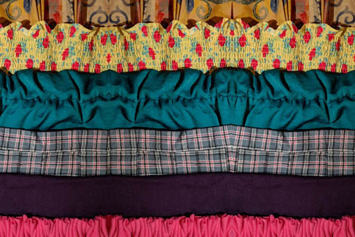 WORKSHOP: GATHERS &#038; PLEATS <br>METHODS FOR CONTROLLING<br> FULLNESS IN FABRIC CRAFT