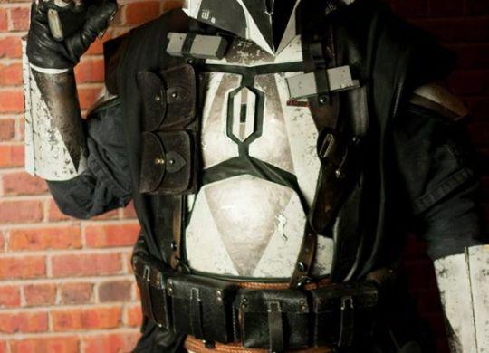 Tom Hutchens in full armor